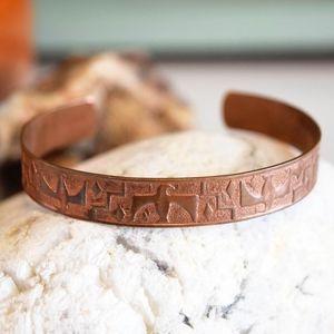 Vintage Copper Thunderbird Cuff Stacker Bracelet